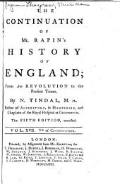 The History of England: Volume 17