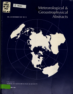 Meteorological and Geoastrophysical Abstracts PDF
