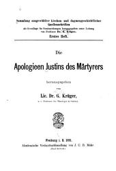 Die Apologieen Justins des Märtyrers