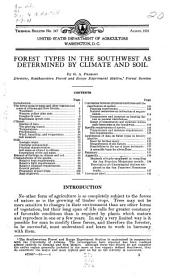 Forest types in the Southwest as determined by climate and soil