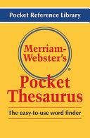 Merriam Webster s Pocket Thesaurus