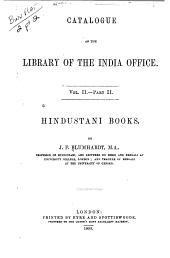 Catalogue of the Library of the India Office: Volume 1