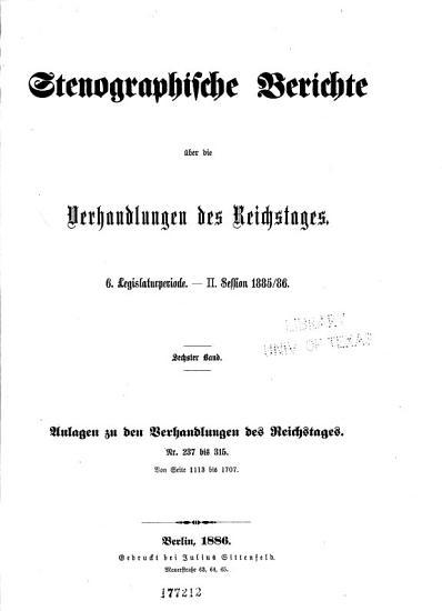Stenographische berichte PDF