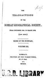 The Transactions of the Bombay Geographical Society: Volume 12