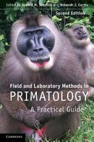 Field and Laboratory Methods in Primatology PDF