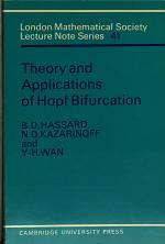 Theory and Applications of Hopf Bifurcation