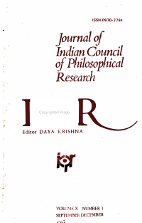 Journal of Indian Council of Philosophical Research PDF