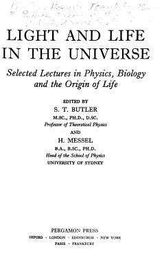 Light and Life in the Universe PDF