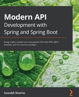 Modern API Development with Spring and Spring Boot PDF
