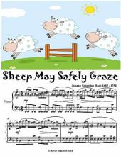 Sheep May Safely Graze - Easy Intermediate Piano Sheet Music Junior Edition