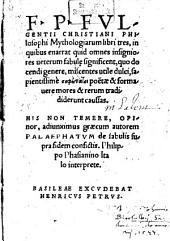 Mythologiae: libri tres