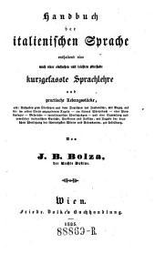 Handbuch der italienischen Sprache (etc.)