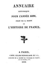 Annuaire historique: Volume3