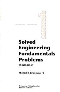 1001 Solved Engineering Fundamentals Problems PDF