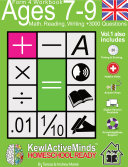 Year 4, Ages 7-9 Math, Reading, Writing Practice Workbook - Vol1, 3000 Questions