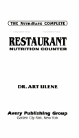 The Nutribase Complete Fast Food Restaurant Nutrition Counter PDF