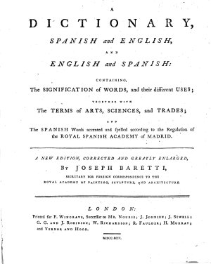 A Dictionary  Spanish and English  and English and Spanish  A new edition  corrected and greatly enlarged PDF