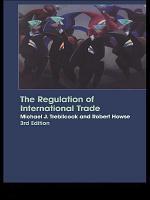 The Regulation of International Trade PDF