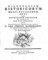 Directorium Historicorum Medii Potissimum Aevi