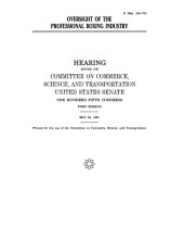 Oversight of the Professional Boxing Industry: Hearing Before the Committee on Commerce, Science, and Transportation, U.S. Senate