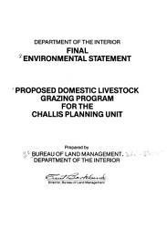 Proposed Domestic Livestock Grazing Program for the Challis Planning Unit PDF