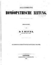 Allgemeine homöopathische Zeitung: Bände 57-58