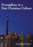 Evangelism in a Post Christian Culture PDF