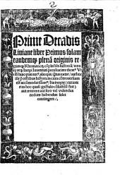 Primae Decadis Livianae liber primus
