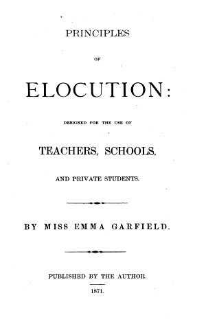 Principles of Elocution
