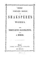 Dicks  complete edition of Shakspere s Works PDF