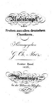 Musentempel: oder, Proben aus allen deutschen Classikern, Band 2