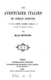 Un aventurier italien du siëcle dernier, le comte J. Govani