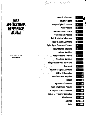 1993 Applications Reference Manual