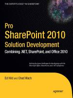 Pro SharePoint 2010 Solution Development PDF