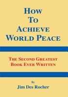 How to Achieve World Peace PDF