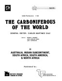 Download The Carboniferous of the World  Australia  IndianSubcontinent  South Africa  South America  and North Africa Book