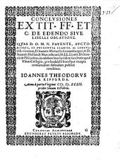 Conclusiones ex tit. FF. et C. de edendo, sive libelli oblatione