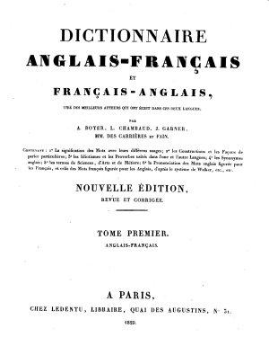 Dictionnaire anglais fran  ais et fran  ais anglais PDF