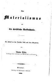 Der Materialismus und die christliche Volksschule