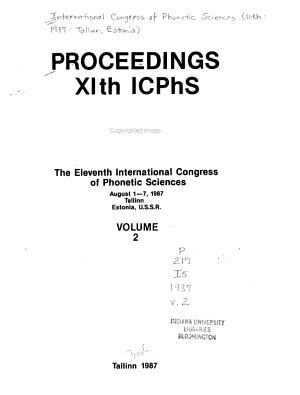 Proceedings XIth ICPhs
