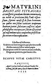 Genialium dierum Commentarii in ... Iul. Pauli responsum, septimo mense ff. de statu hominis
