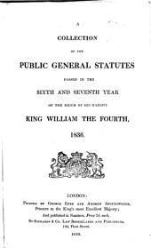 Statutes at Large ...: (37 v.) A collection of the public general statutes, 1833-1869