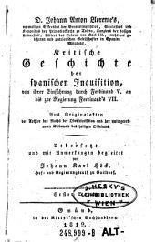 Kritische Geschichte der Spanischen Inquisition