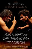 Performing the Ramayana Tradition PDF