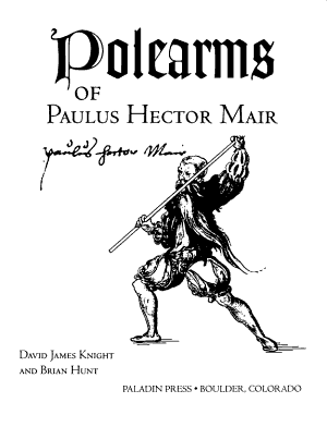 Polearms Of Paulus Hector Mair