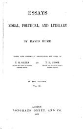 Essays Moral, Political, and Literary: Volume 2