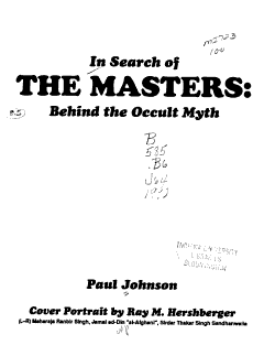 In Search of the Masters PDF