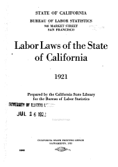 Labor Laws of the State of California
