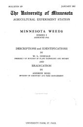Bulletin - Agricultural Experiment Station, University of Minnesota: Issues 129-136