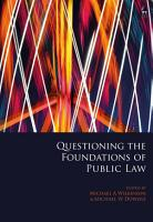 Questioning the Foundations of Public Law PDF